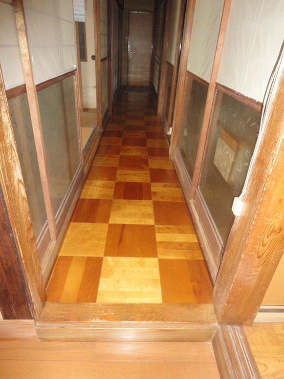 廊下床施工前