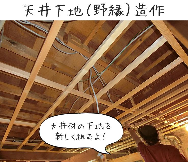 天井野縁造作